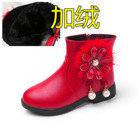 2019 New Style CHILDREN'S Shoes Autumn & Winter GIRL'S Shoes Cotton padded Shoes Big Boy Leather Boots Girls Snow Boots CHILDREN