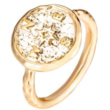 Boho Creative Silver Gold Color Travel Compass Ring Vintage Best Friends Rings For Women Graduation Gift Friendship Jewelry(China)