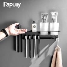 Fapully סבון Dispenser עם מעיל וו 304 נירוסטה מלון שירותים ציבוריים Bbathroom נייד יד Sanitizer נייר מגבת מדף