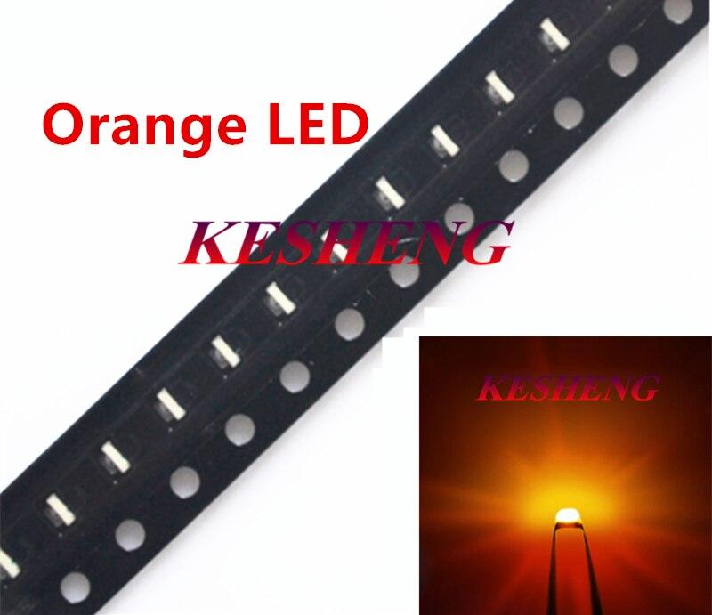 100 шт. SMD 0402 0603 0805 2835 3528 1206 5050 5730 диоды оранжевый светодиод супер яркий светодиодный