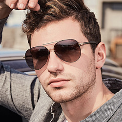 MIZHO 2020 Brand Visual travel Use Pilot Sunglasses Men Polarized Celebrity IP Vacuum Plating UV400 Polaroid Eyewear Metal