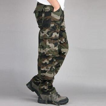 цена на Camouflage Pants Men Casual Camo Cargo Trousers Hip Hop Joggers Streetwear Pantalon Homme Multi-pocket Military Tactical Pants