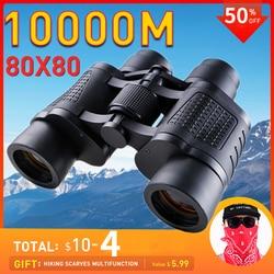 Binoculars 80x80 Telescope Powerful Night Vision Binoculars Professional Long Reach Binoculars for Hunting Professional Telescop