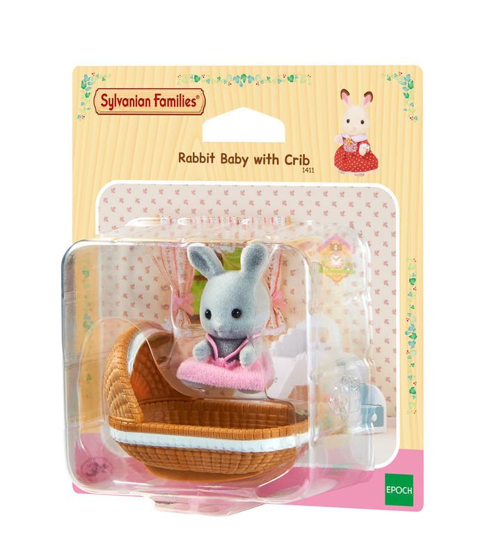Sylvanian Families Toy Sylvanian Families Rabbit Baby And Cradle GIRL'S Play House Doll 4558