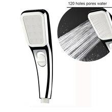Shower Head 120 Holes Bath Spray Water Saving Showerhead High Pressure Rainfall Portable Bathroom Nozzle ABS Plating New Upgrade