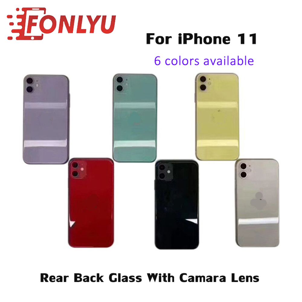 Easy Change Back Cover Glass Rear Housing For iPhone 11 Rear Door Body Assemble Housing Replacement with Camera Lens