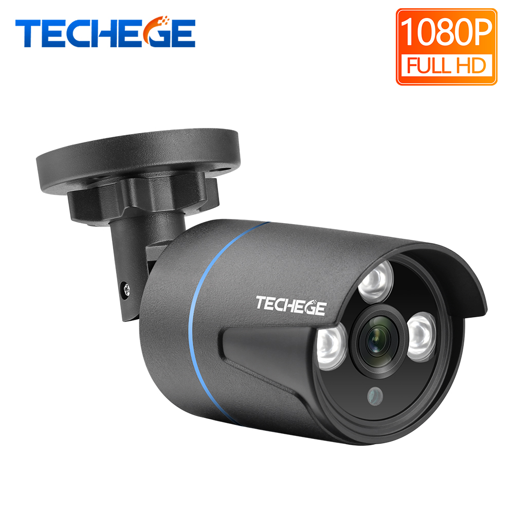 Techege H.265 1080P IP Camera Audio Record RTSP FTP Onvif HD 2MP Waterproof Outdoor Motion Detection DC 12V Or 48V PoE Optional