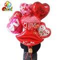 1 Набор, 18 дюймов тема любви Фольга романтические надувные шарики в форме сердца воздушный шар с гелием Свадьба День святого Валентина вечер...