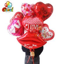 1 Set 18 inch Love Theme Foil Balloons Romantic Heart Helium Balloon Wedding Valentines Day Party Decoration Adult Shower Globos