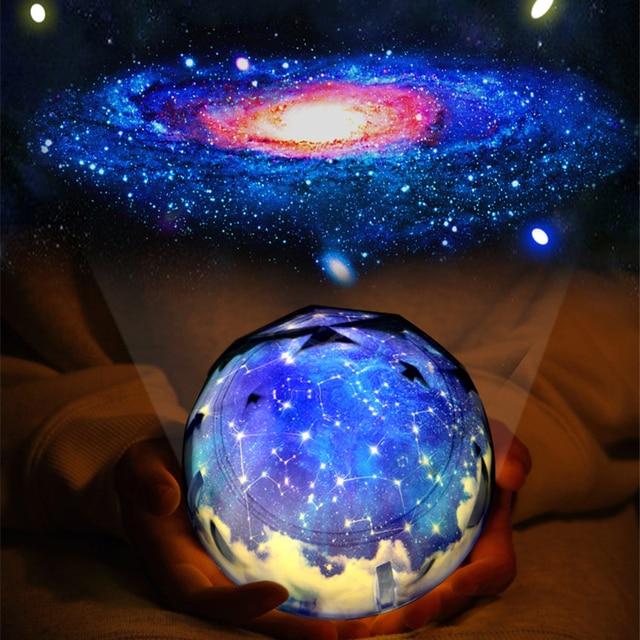 Stars Starry Sky LED Night Light Projector Luminaria Moon Novelty Table Night Lamp Battery USB Night Light For Children
