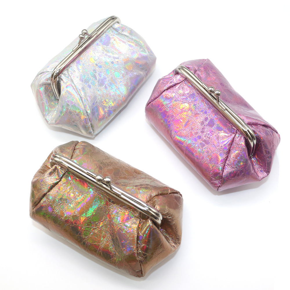 New Women Laser Fabric Coin Purse Lady Hasp Wallets Credit Card Holder Coin Purse Small Card Wallet Women Clutch Bag