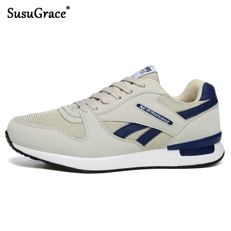 SusuGrace Spring Summer Men Sneakers Air Mesh Running Shoes Unisex Trainers Women Antiskid Outdoor Walking Shoes Light Weight