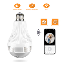 LED Light 960P Wireless Panoramic Home Security WiFi CCTV Fisheye Bulb Lamp IP Camera 360 Degree Night Vision Burglar