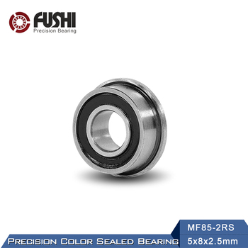 MF85-2RS Bearing 5*8*2.5 mm 10PCS ABEC-1 Miniature Flanged MF85RS Ball Bearings LF-850DD MF85 RS full ceramic bearing 6002 15x32x9 mm ball bearings non magnetic insulating ptfe cage abec 3