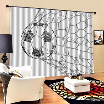 High quality custom 3d curtain fabric  ball 3D Curtain Luxury Blackout Window Curtain Living Room