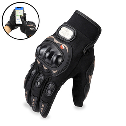 Motorcycle Gloves Super Fiber Reinforced Leather Motocross Motorbike Biker Racing Car Riding Mechanical Moto Gloves Men Women