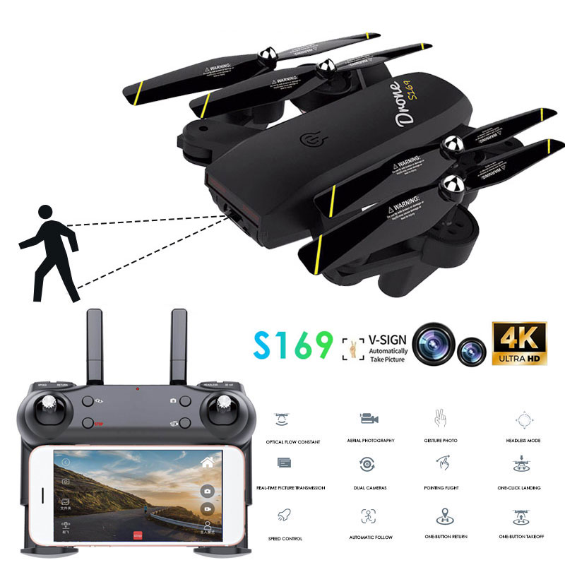 Professional RC Drone with 4K HD Dual Camera Optical Flow Positioning WiFi Real-time Transmission Aerial Photography  Quadcopter