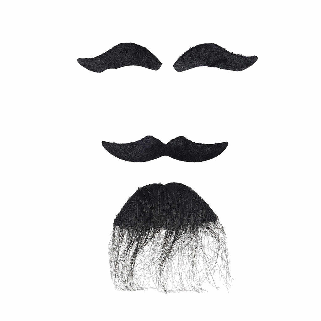 Niños por igual barba falsa bigote nuevo y de alta calidad divertido traje de fiesta hombre Halloween barba Facial JUEGO DE BIGOTE