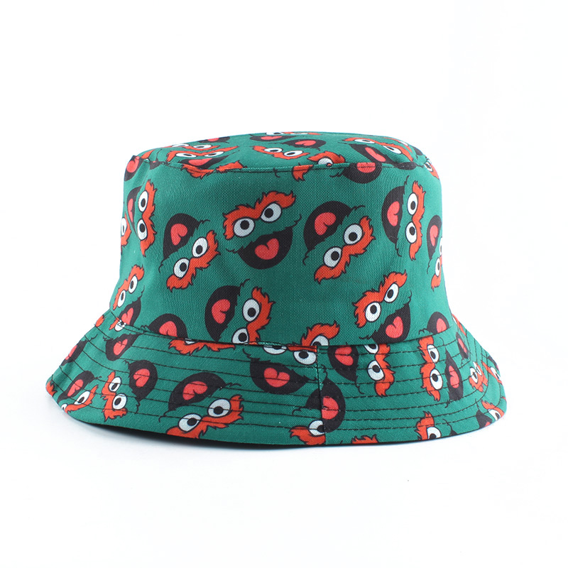 H36a72cc59597437abef0e8be70a57470n - Summer Fisherman Hat Reversible Cartoon Bucket Hats For Women Men Street Hip Hop Bucket Cap Vintage Printed Fishing Hat
