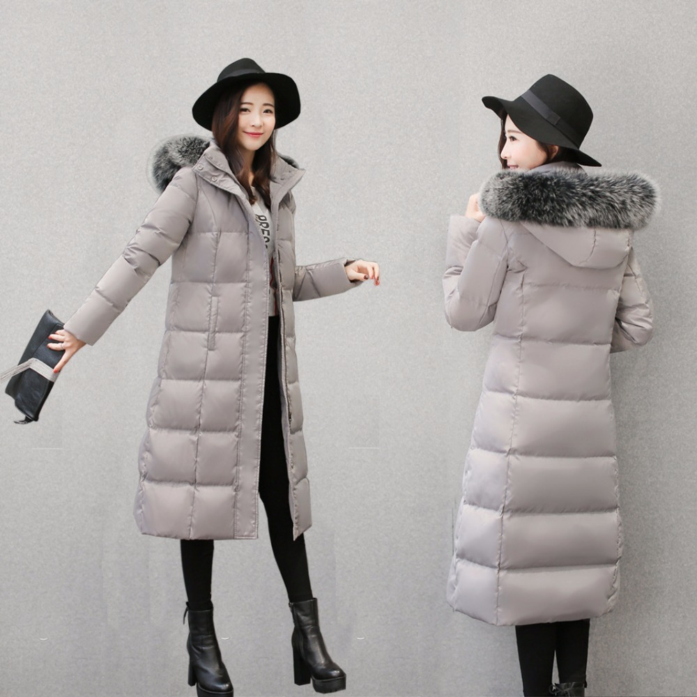 Winter Jacket Women Parka 2020 New X-Long Ladies'Duck Down Jacket Natural Fox Fur Thick Hooded Manteau Femme OutweaLX997