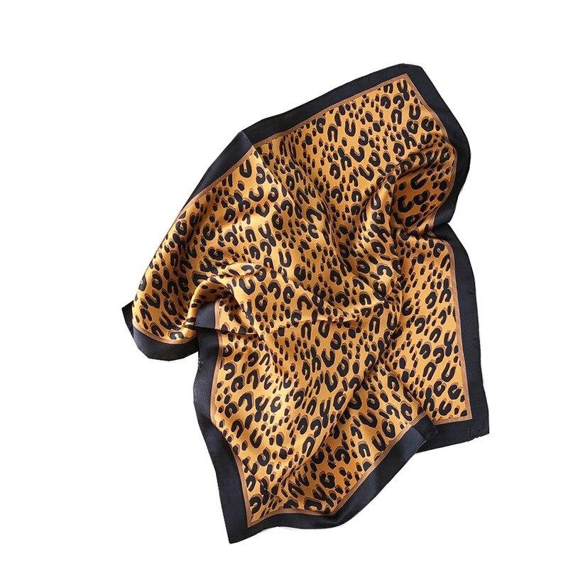 Frauen Schal Leopard Marke 2020 Neue 100% Echt Silk Schals Für Damen Foulard Pashmina Schals Und Wraps Weiche Bandana Hijab poncho
