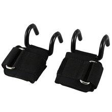 Топ!-1 пара тяжелой атлетики крюки тренировочные эспандер с толстый ремень на запястье Поддержка Мощность Тяжелая атлетика гантели, крюк