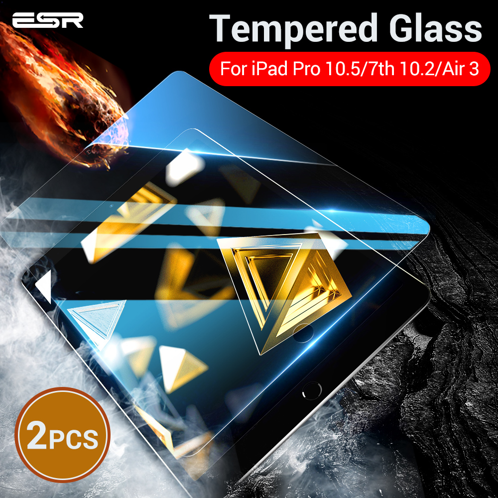 ESR Screen Protector For IPad Air 3 7th 2019 Pro 10.2 10.5 Protective Tempered Glass 9H Anti-Scratch Screen Protector For IPad 7