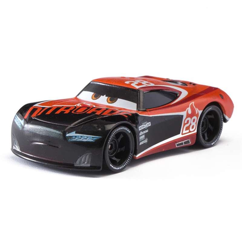 Car Diney Pixar Car  3 No.8 Racing Car Lightning McQueen Jackon Torm Cruz Mater 1:55 Diecat Metal Alloy Model Car Toy