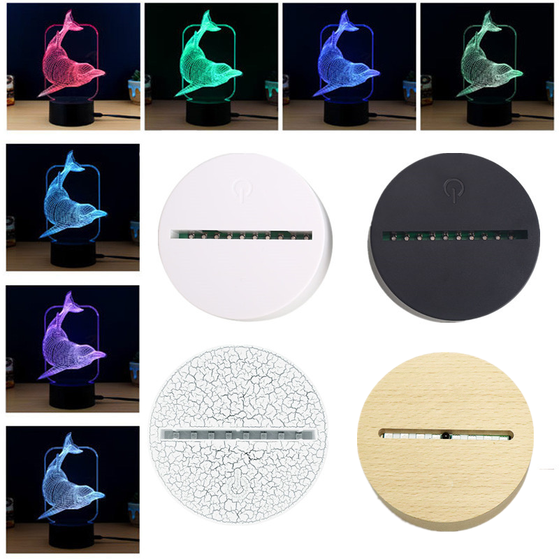 USB Touch Lamp Bases For 3D LED Night Lights Novelty Light Base 3D Illusion Table Lamp Home Decor Valentine's Day Birthday Gifts