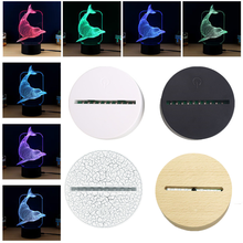 USB Touch Lamp Bases for 3D LED Night Lights Novelty Light Base 3D Illusion Table Lamp Home Decor Valentine's Day Birthday Gifts 3d лампа 3d lamp утенок