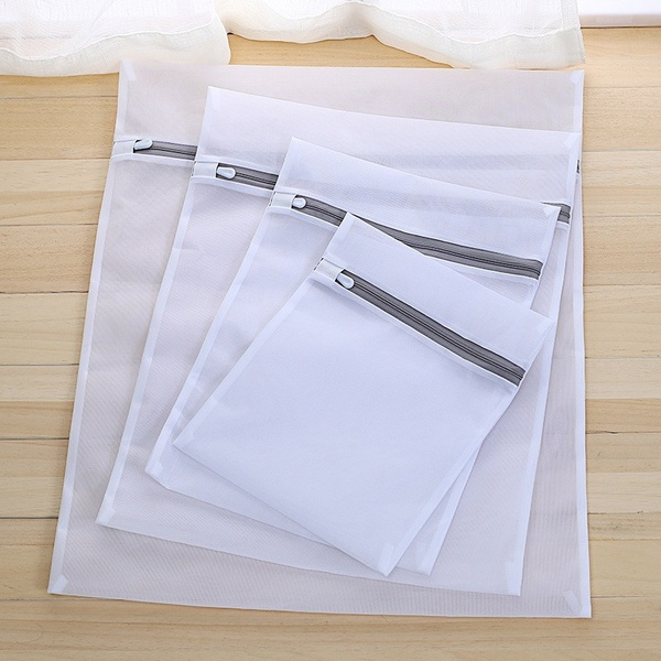 Mesh Laundry Bags Travel Clothes Storage Net Zip Bag Wash Bra Stocking Underwear 1 Pc