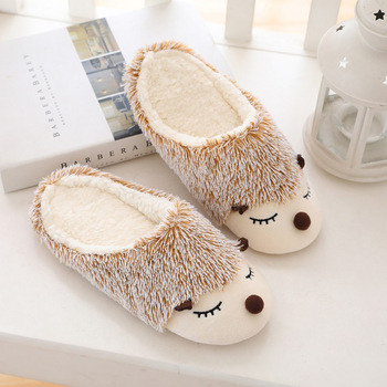 Furry Animal Slippers Women Cute Home Floor Cotton Slippers For Women Warm Autumn Winter Bedroom Fur Slides Ladies Shoes VT1304