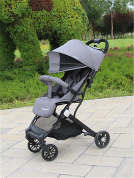 Baby stroller ultra light folding portable simple child high landscape can sit reclining baby child umbrella car on the plane aluminium alloy tires baby stroller high landscape light portable folding newborn children simple baby child umbrella stroller