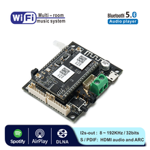 WB05 WiFi and Bluetooth 5.0 Audio Receive Sound Bluetooth Module I2S Analog Output Board With Spotify Airplay DLNA Wifi Audio