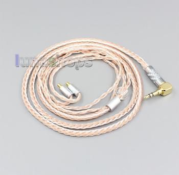 LN006458 2.5mm 3.5mm XLR Balanced 16 Core OCC Silver Mixed Headphone Cable For Sennheiser IE400 IE500 Pro