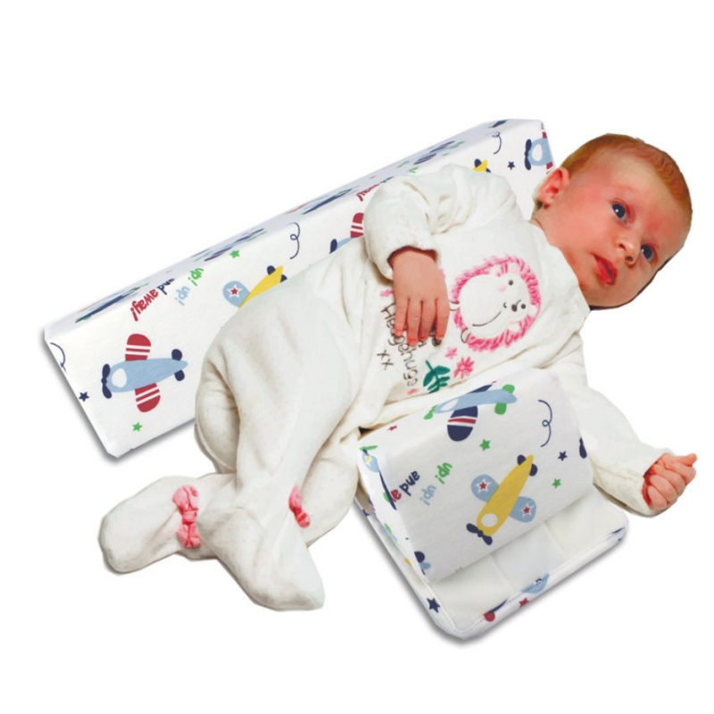 Newborn Baby Cotton Head And Body Support Stereotyped Pillow For Side Sleeper Prevention Of Spilled Milk Flat Comfortable Pillow