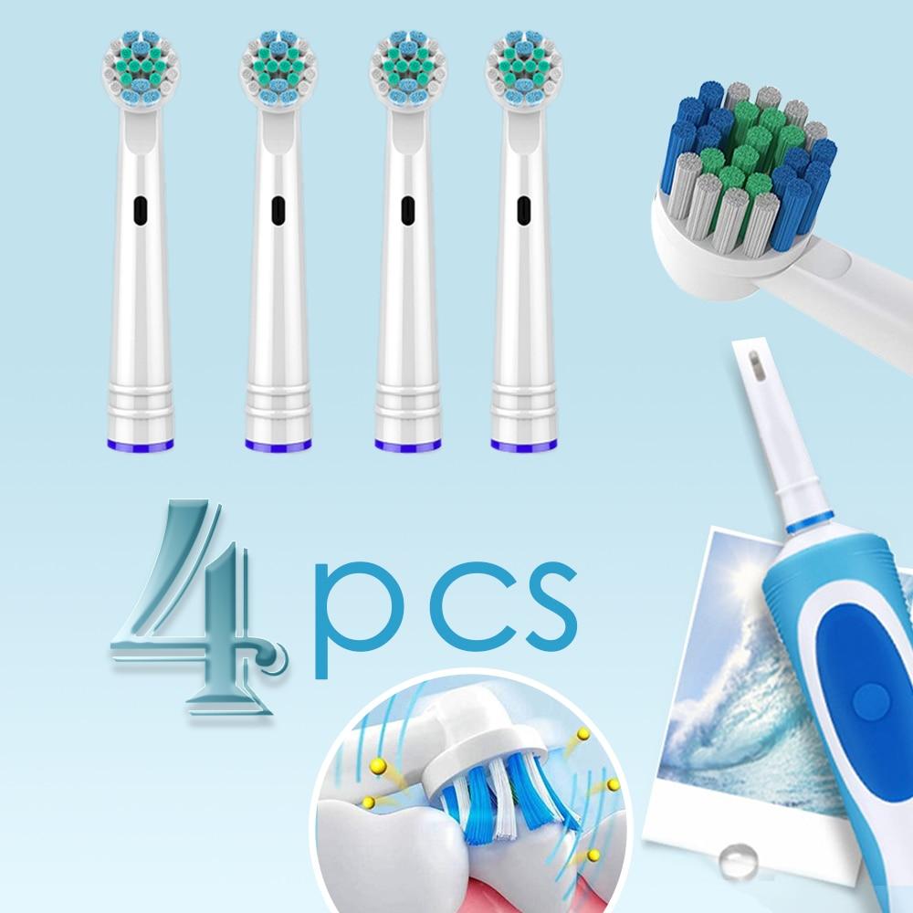 Насадки для зубной щетки oral b, 4 насадки для электрической зубной щетки, насадки для зубной щетки recambio cepillo oral b cross action 5 Электрические зубные щетки      АлиЭкспресс