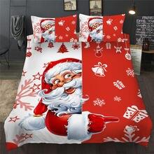 Рождественский Комплект постельного белья с 3d рисунком Санта