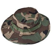 Balde chapéu boonie caça pesca ao ar livre tampa larga borda militar unisex de alta qualidade lona balde chapéu sombrero