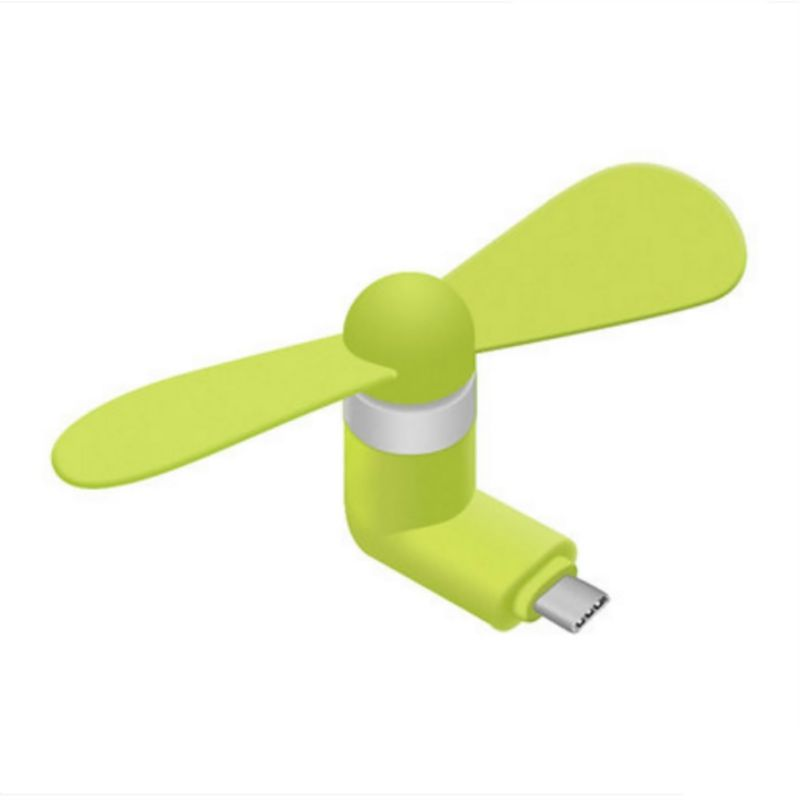 Portable Micro USB Cooling Fan Cooler With Two Leaves For IOS Android Smartphone