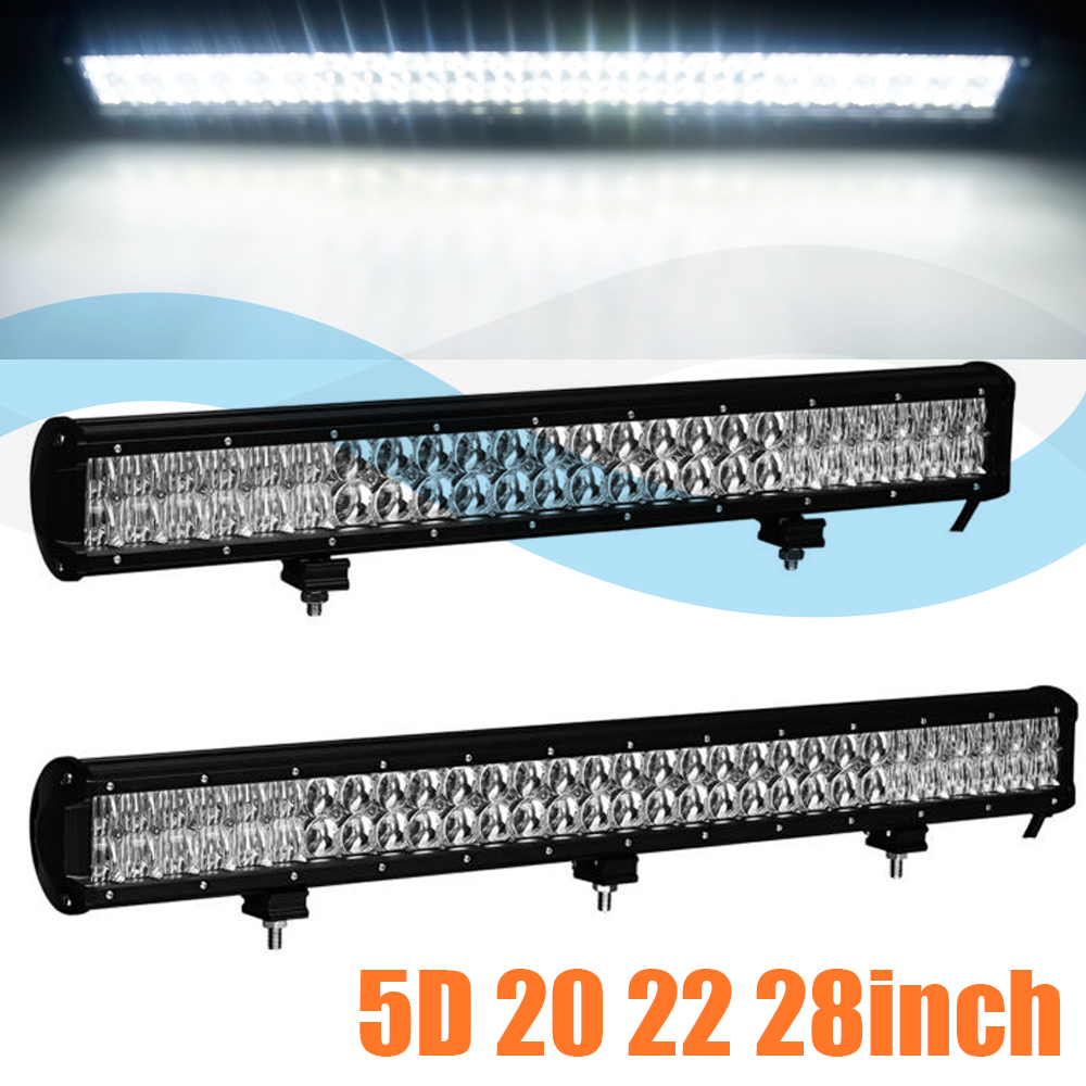 5D 20 / 22 / 28 inch Led Bar Led Work light Led Light Bar for Off Road 4x4 4WD ATV SUV Driving Motorcycle Car Truck Light image