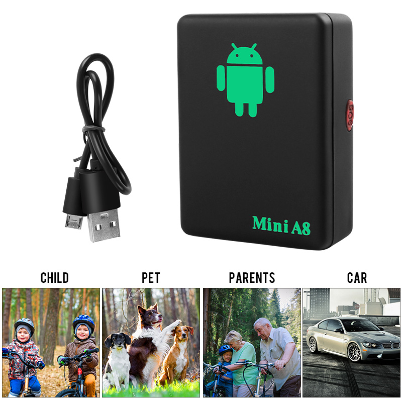 Mini A8 Pet Dog GPS Tracker Smart Anti Lost Tracking Device GPS Locator Finder Tracing Equipment Real Time Car Kids Pets Tracker in GPS Trackers from Home Garden