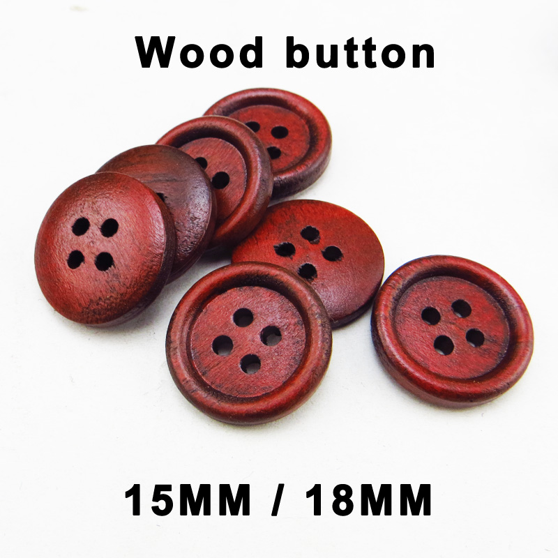 Bead and Button Company Pack of 10 Wooden Hollow Flower Round 25mm Buttons