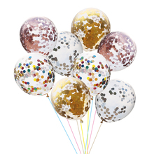 5pcs 12 inch Latex Helium Balloons Confetti Inflatable Wedding Decorations Air Balls Happy Birthday Party Supplies