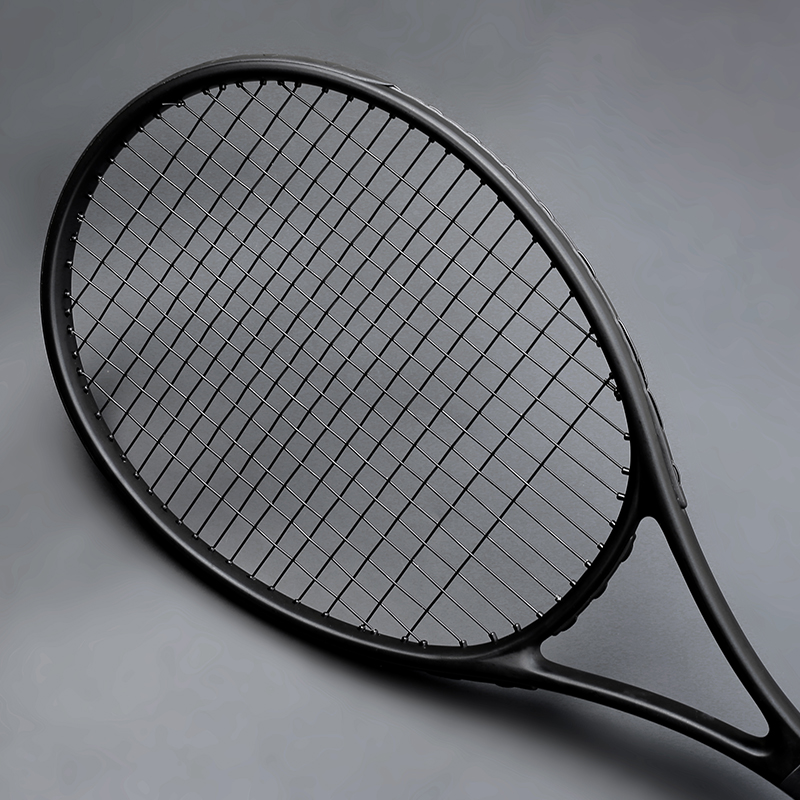 40-55 LBS Ultralight Black Tennis Rackets Carbon Raqueta Tenis Padel Racket Stringing 4 3/8 Racchetta Tennisracket racquet 1