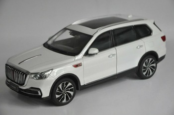 1:18 Diecast Model for FAW Hongqi HS7 2019 White Luxury SUV Alloy Toy Car Miniature Collection Gifts T2 фото