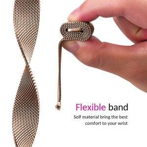 Image 4 - Meilleur Bracelet de boucle milanais pour Asus Zenwatch 3 Bracelet de remplacement daspiration magnétique accessoires de Bracelet de montre noir/argent/or