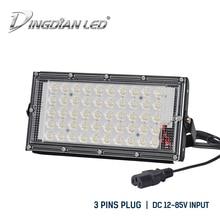 Outdoor Waterproof Flood Light DC12-85V 50W LED Xtra Bright Camping Lamp Night Market Lights Pin Plug Sport