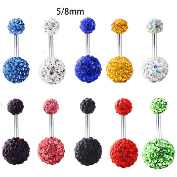 1PC Crystal Navel Ring Women Bar Barbell Drop Dangle Body Piercing Nombril Ombligo Belly Button Rings 2020 Men Body Jewelry Gift image