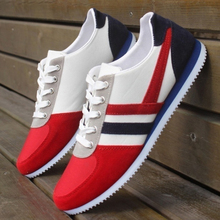 Stylish Brand Fashion Men's Lace Up Sports Loafers Casual Sneakers Flat Canvas